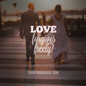 Love forgives freely.